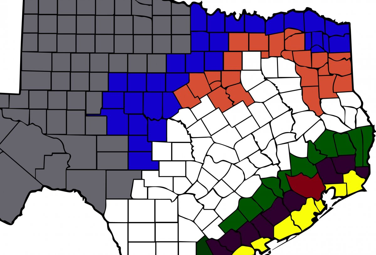 Texas insurance ratings map